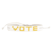 White / Gold VOTE Woven Bracelet