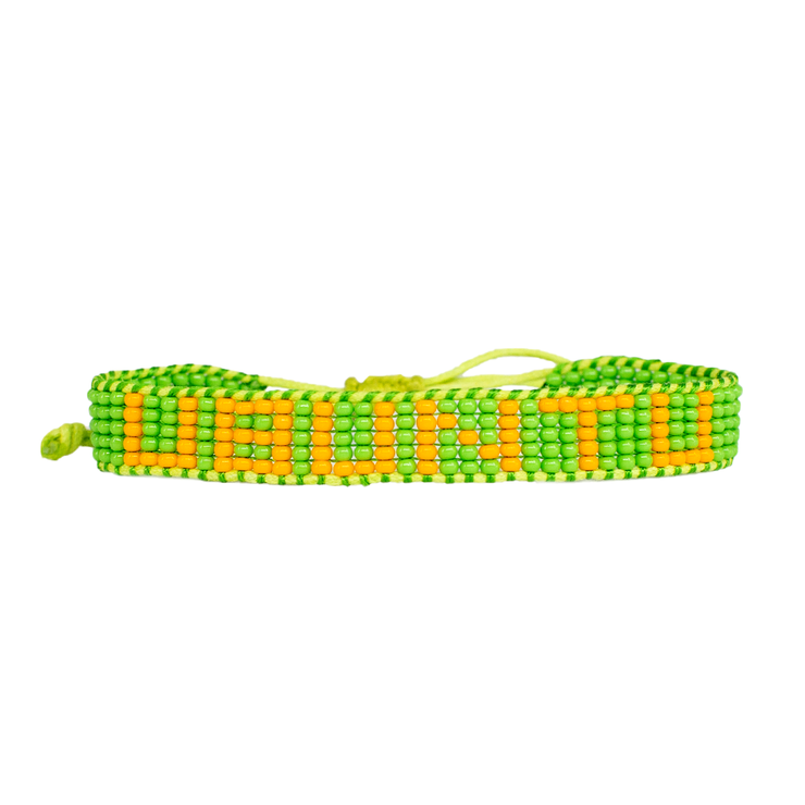 Green / Orange UBUNTU Woven Bracelet