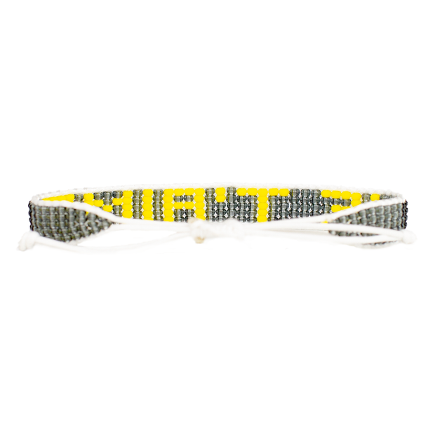 Grey/Yellow Je T'aime Bracelet