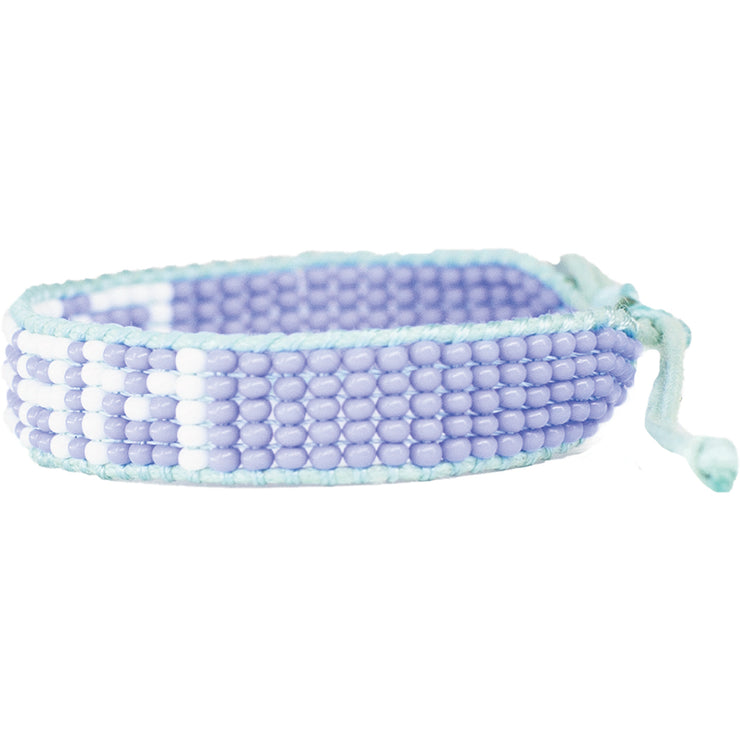 Light Blue / White DREAM Woven Bracelet