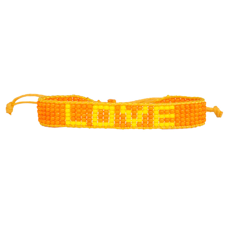 Orange / Yellow LOVE Woven Bracelet