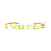 White/ Green VOTE Bracelet