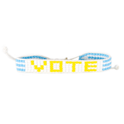 White / Yellow VOTE Bracelet