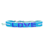 Medium Blue / Navy LOVE Woven Bracelet