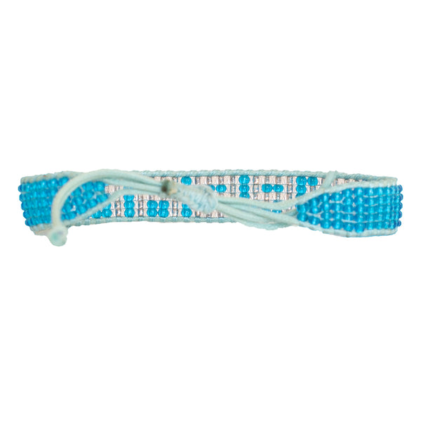 Medium Blue / Silver DREAM Woven Bracelet