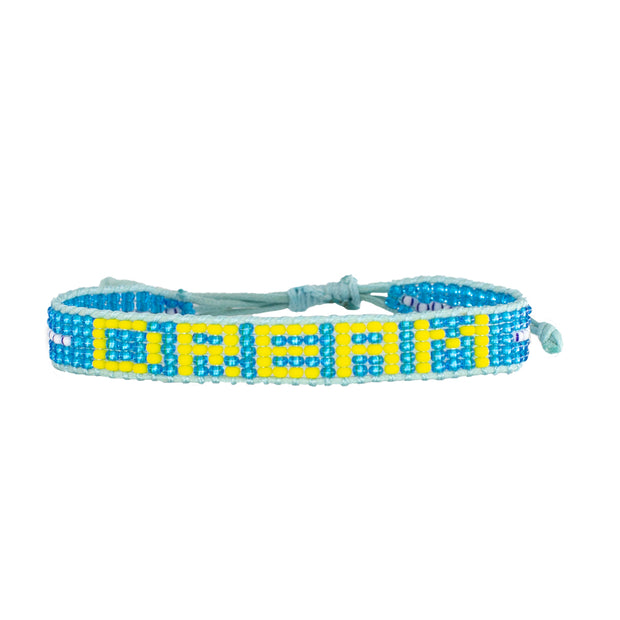 Medium Blue / Yellow DREAM Woven Bracelet
