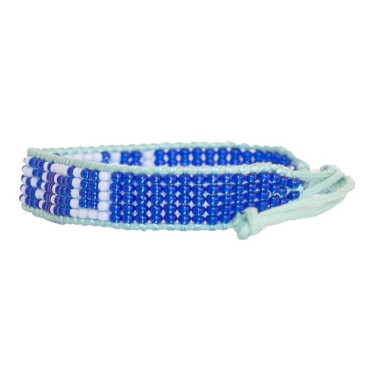 Navy / Light Blue UBUNTU Woven Bracelet