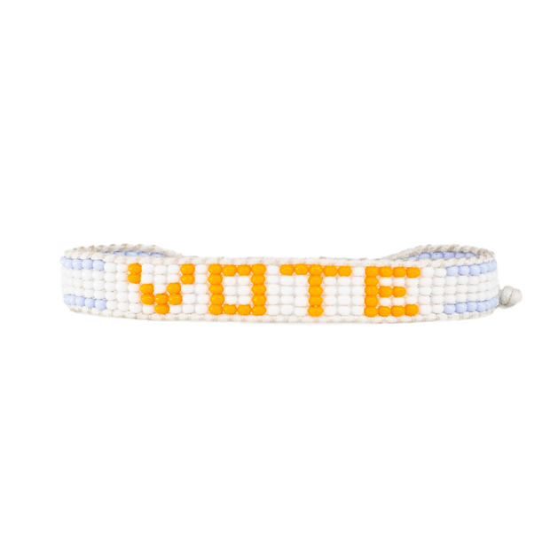 Orange / Grey VOTE Bracelet
