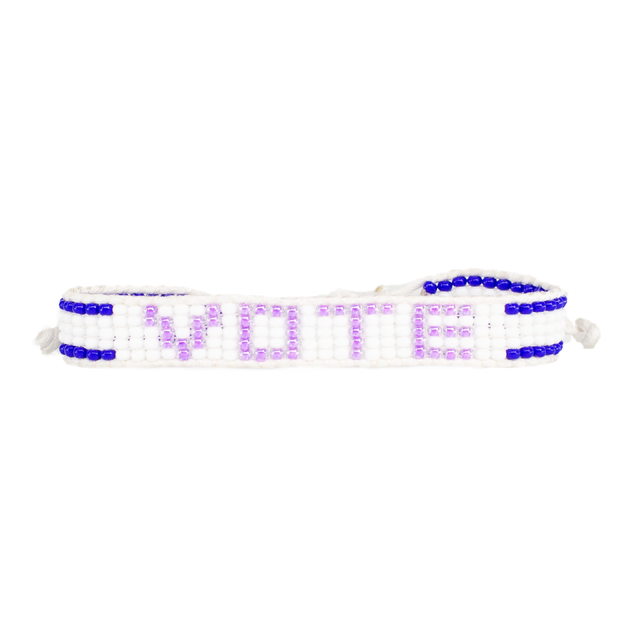 Purple / Navy VOTE Bracelet