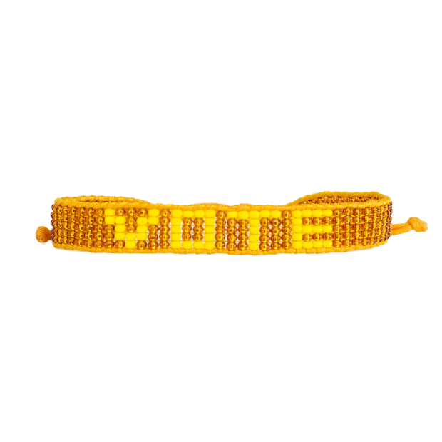 Bronze / Yellow VOTE Bracelet