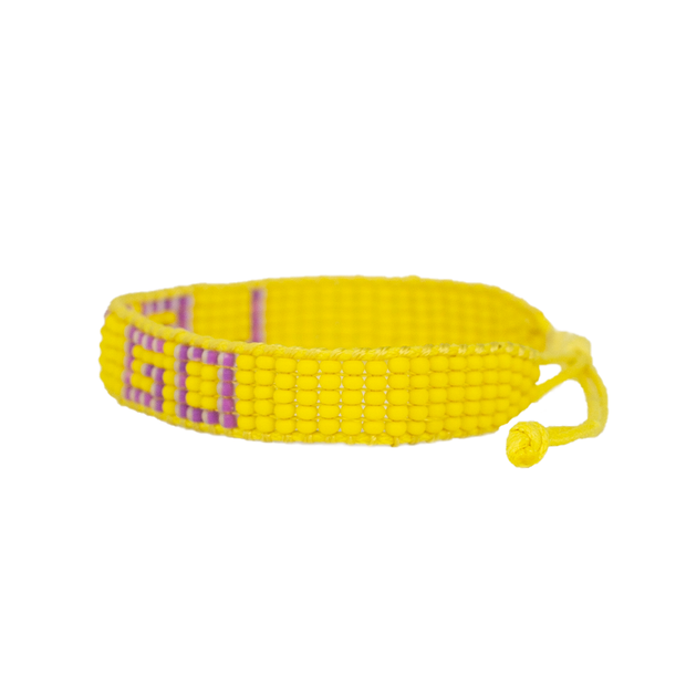 Yellow / Purple LET GO Woven Bracelet