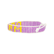 Purple / Yellow DREAM Woven Bracelet