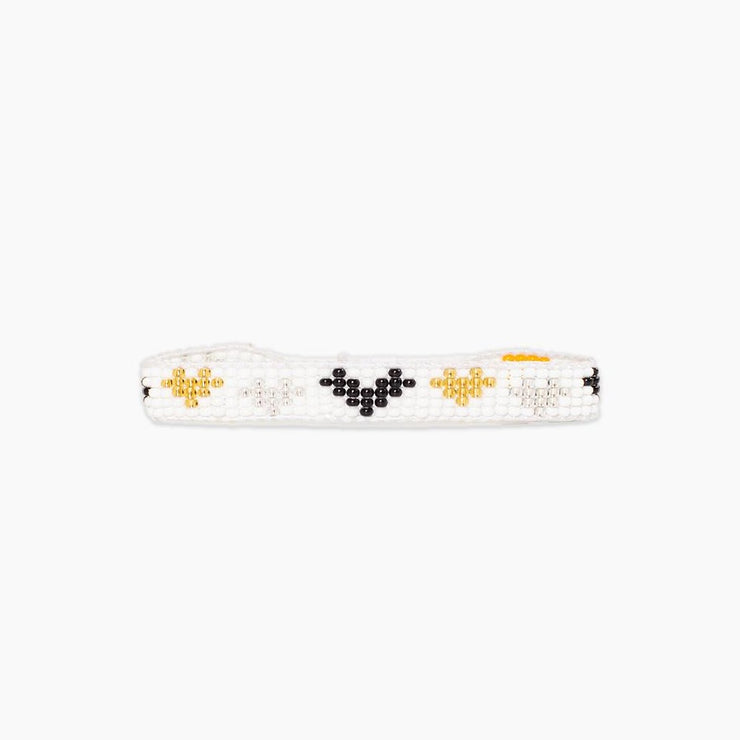 Multi Heart Woven Bracelet - Metallic