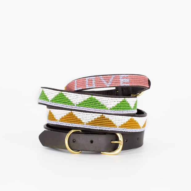 Green Triangle Dog Collar