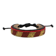 Crimson and Gold Mstari Bracelet