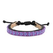 Purple and Light Blue Msalaba Tribal Bracelet