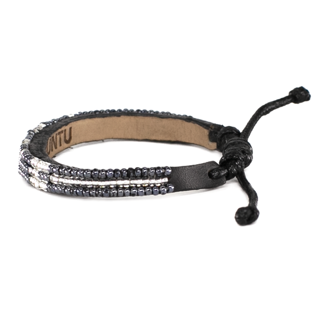 Gunmetal and Silver Skinny Love Bracelet