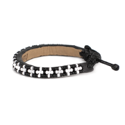 Black and White Msalaba Tribal Bracelet