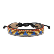 Gold and Lapis Piramidi Bracelet