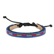 Lapis and Crimson Nija Bracelet