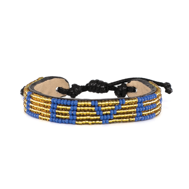 Gold and Lapis LOVE Bracelet