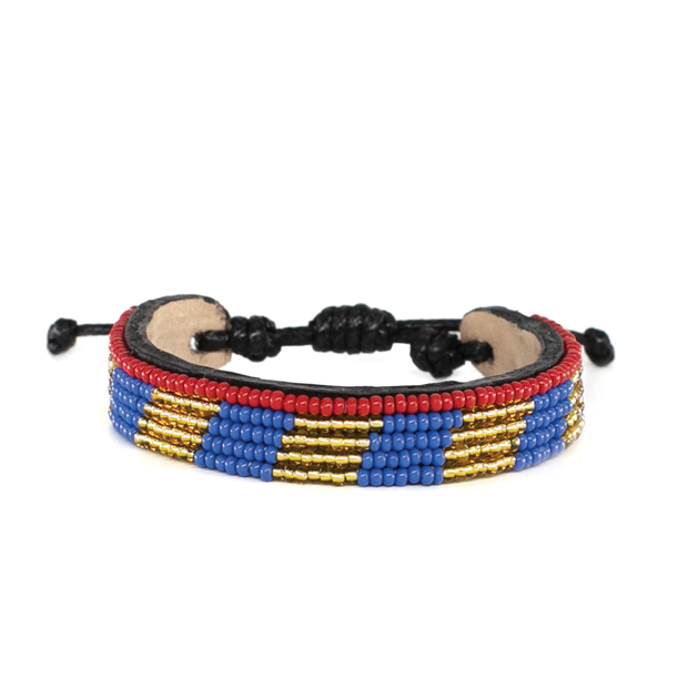 Gold and Lapis Mstari Bracelet