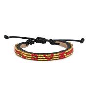 Gold and Crimson Skinny Love Bracelet