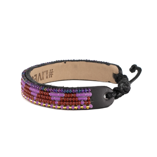 Purple and Burgundy Piramidi Bracelet