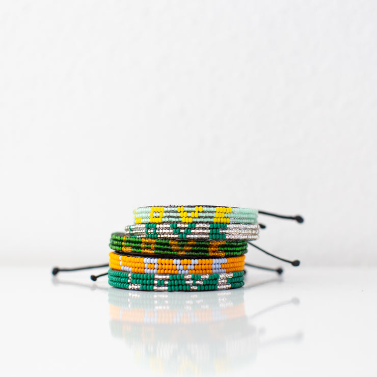 Green / Orange Skinny LOVE Bracelet