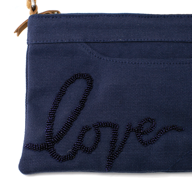 Midnight Blue Love Crossbody