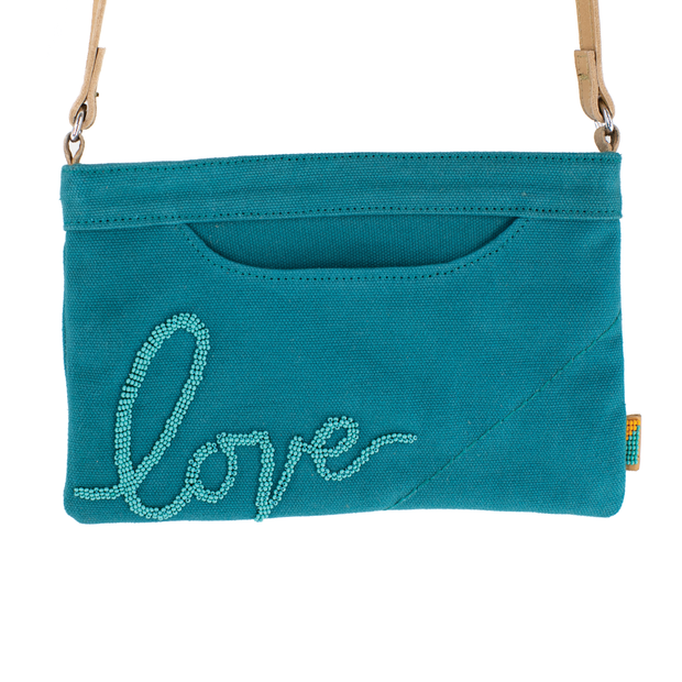 Sea Green Love Crossbody