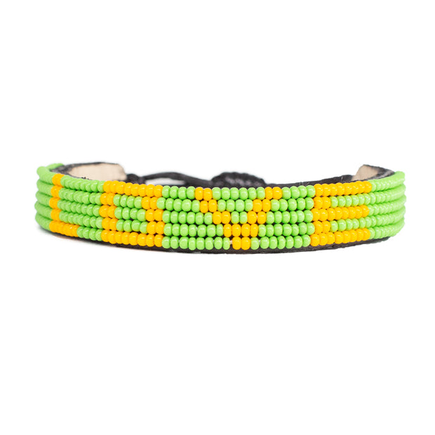 Green / Orange LOVE Bracelet
