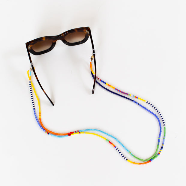 Beaded Sunglass Holder - Rainbow Blocked