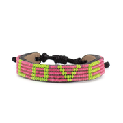 Summer Pink and Lime Green LOVE Bracelet