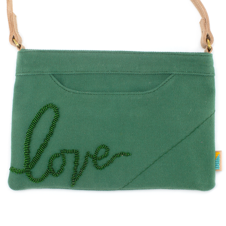 Jungle Green  LOVE Crossbody