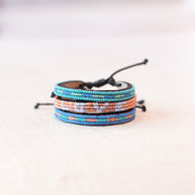 Sea Blue and Turquoise Nija Bracelet