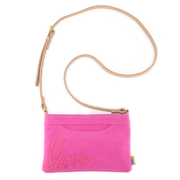 Pink Quartz LOVE Crossbody