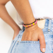 Hot Pink / Yellow Skinny LOVE Bracelet
