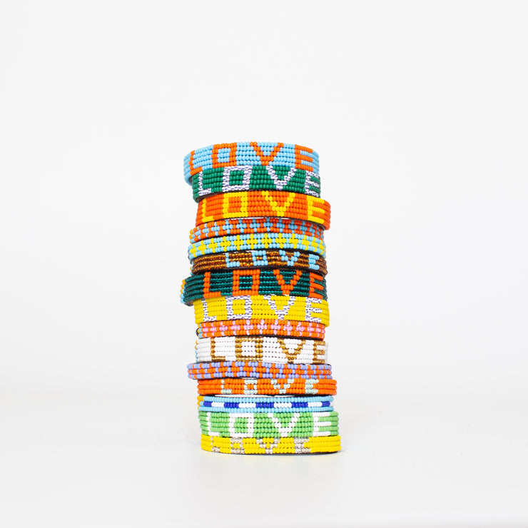 Yellow / Stripe LOVE Bracelet