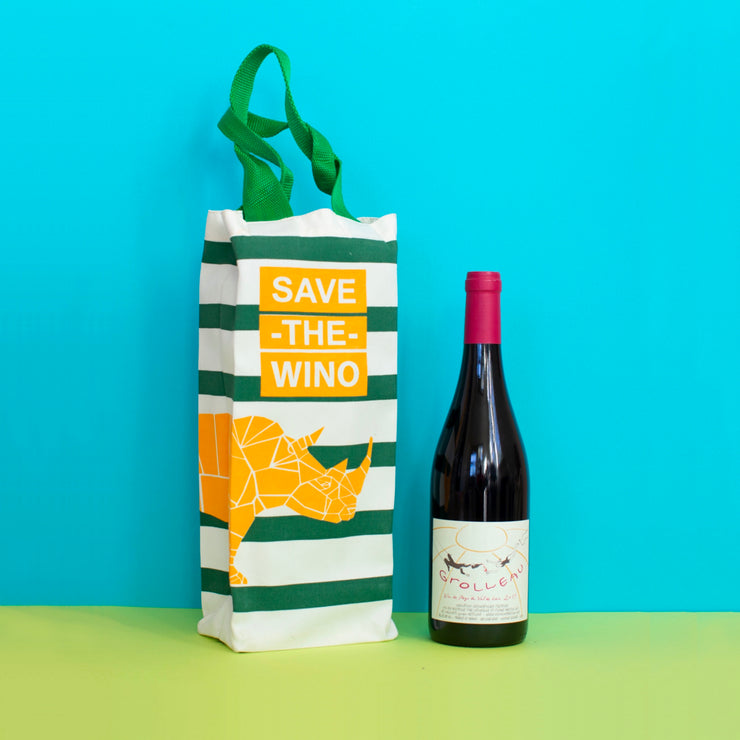 SAVE THE WINO Bag - Green