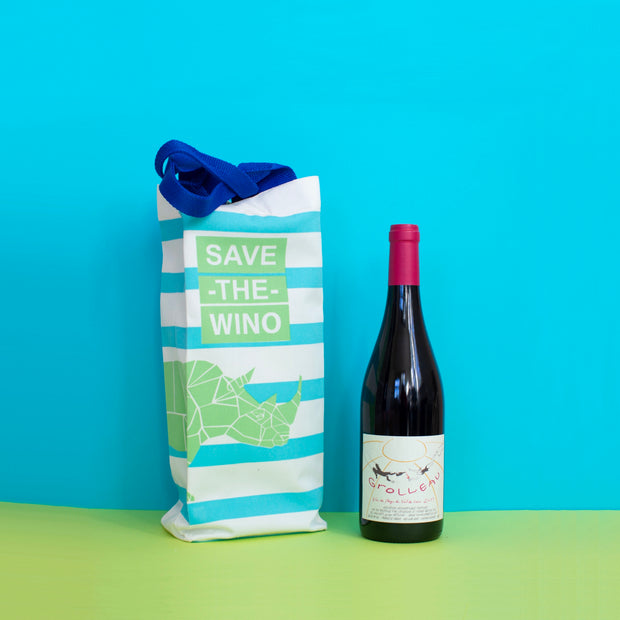 SAVE THE WINO Bag - Blue