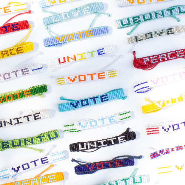 Light Blue / Green VOTE Bracelet
