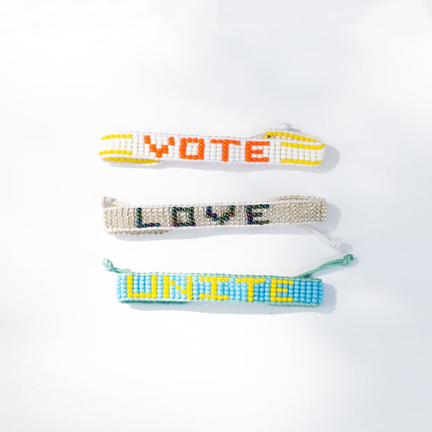 Light Blue / Orange VOTE Bracelet
