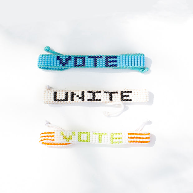 Light Blue / Navy VOTE Bracelet