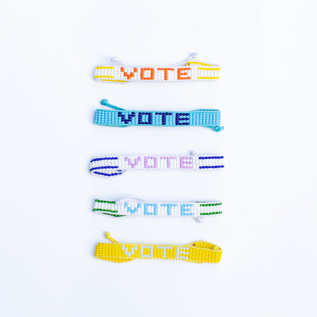 White / Purple VOTE Bracelet