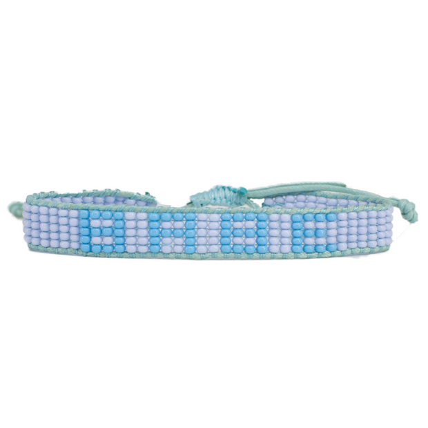 Light Blue / Blue BABE Woven Bracelet
