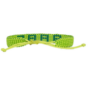 Light Green / Green BABE Woven Bracelet