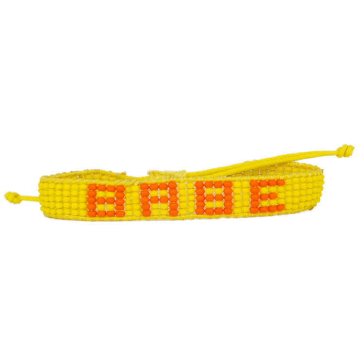 Yellow / Orange BABE Woven Bracelet