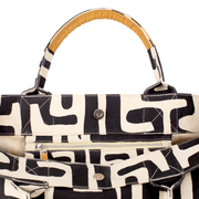 Beach Bag in Black & Eggshell