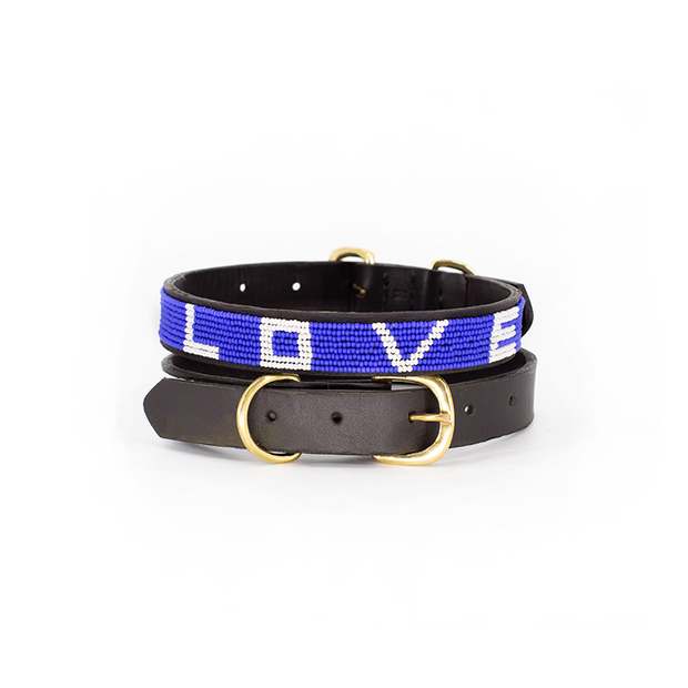 Cobalt Love Dog Collar